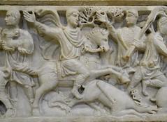 Hunting scene from a sarcophagus (Nemoleon) Tags: centralemontemartini 2017 june dscn4207 sarcophagus hunting