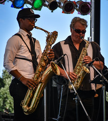 Woodwind Section (tim.perdue) Tags: comfest 2017 community festival columbus ohio short north goodale park summer deeptones band funk soul rb bozo main stage music musicians concert performance live group ensemble horn woodwind sax saxophone bari baritone alto two musical instrument
