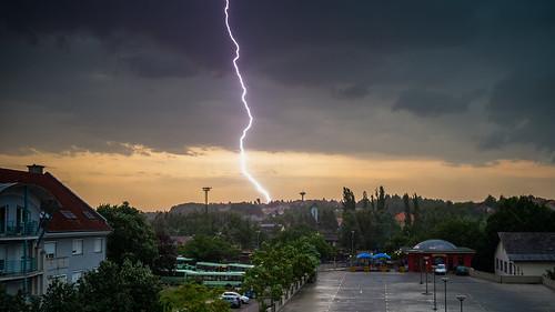 Lightning in Kaposvár