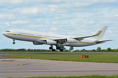HZ-SKY1 Sky Prime Airbus A340 EGNX 3/6/17 (David K- IOM Pics) Tags: hzsky1 sky prime airbus a340 egnx ema east midlands airport hz a342 a340200