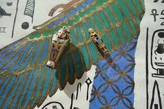 Egyptian Revival Charm 1920s (Celeste33) Tags: revivalegyptian charm pendant mummy sarcophagus jewellery 1920s design egyptian