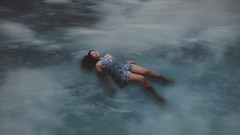 328/365 The sky is a suspended blue ocean (II) (Katrina Y) Tags: selfportrait clouds sky water woman artsy mood cinematic conceptual creative concept art artistic 2017 365project