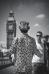 27/52 (2017): Cliche, Best of British. (Sean Hartwell Photography) Tags: bigben westminster bridge riverthames london londres street candid unionjack suit hat cliche week272017 52weeksthe2017edition weekstartingsundayjuly22017 uk british flag housesofparliament
