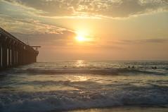 Summer Scripps Sunset (aurora borealis lover1555) Tags: scripps scrippspier scrippspiersunset sandiegosunset nikondslr oceansunset summersunset goldenhour clouds california living