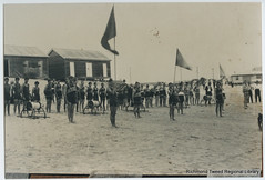 March Past, Surf Carnival, c1920s (RTRL) Tags: byronbay surflifesaving surfclub surflifesavingcarnival