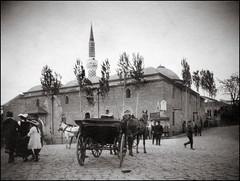 Dzhumaya Mosque in Plowdiw (1903) (ookami_dou) Tags: vintage balkans architecture mosque minaret coach carriage djumayamosque plowdiw dzhumayamosque ulumosque muradiye джумаяджамия dschumajadschamija пловдив bulgaria