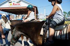 Pony Ride (dtanist) Tags: nyc newyork newyorkcity new york city sony a7 konica hexanon 40mm brooklyn coney island pony horse ride riding