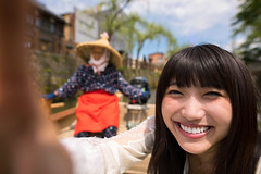 Young woman taking selfie picture on sightseeing boat (Apricot Cafe) Tags: img38656 2024years 7079years asia asianstyleconicalhat asianandindianethnicities japan japaneseethnicity katoricity sawarakatori senioradult sigma20mmf14dghsmart tokyojapan beautifulwoman blackhair boat buildingexterior canal candid carefree charming cheerful closeup colorimage communication cruise day driver enjoyment friendship happiness horizontal humanface lifestyles longhair lookingatcamera onlyjapanese onlywomen onlyyoungwomen outdoors people photography river selfie smiling togetherness tourism tourist traveldestinations twopeople waistup willowtree women youngadult