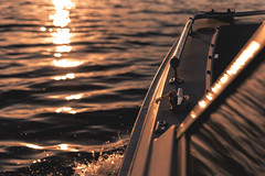 ~At sea, I learned how little a person needs, not how much. (Fire Fighter's Wife {off for awhile}) Tags: boat lake felch mi speedboat water ripples waves sunset sun light bokeh splash splashing sparkle adventure travel nature 6milelake nikon nikond750 24120mm 24120mmf4 cinematic evening dusk michigan 35light 52in2017