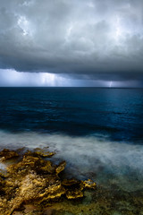 Lightning Storm Approaching Isla Mujeres (brian.pipe) Tags: nikon d500 sigma 17 50 isla mujeres mia reef mexico cancun lightning clouds storm water rocks