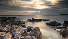 Ogmore-by-sea (Barrie Parker) Tags: escape nature greatoutdoors coast beach sand rocks water sunset bigstopper cokinfilters leefilters nisifilters ogmore wales gradfilters ndfilters longexposure waterscape seascape landscape