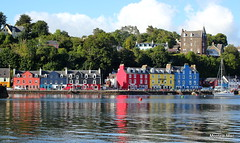 Colourful Tobermory reflections (mootzie) Tags: scotland tobermory mull island colourful houses painted buoys sea reflections yacht blue yellow red