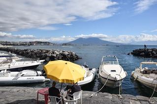 Yellow Umbrella, Marina, Naples
