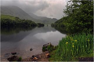 Scotland. Rain on the lake.