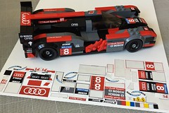 Embrace the stickos. (// PROTOTYP) Tags: lego inkjet diy stickers audi r18 le mans papilio