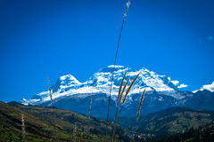 Huascaran is the highest point in Peru and in all of the Earth's Tropics. Huascarán is the fourth highest mountain in the Western Hemisphere and South America.