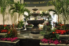 6-120 Macy's Fountain (megatti) Tags: chicago flowers fountain il illinois macys marshallfields palmtrees
