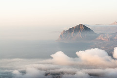 misty [explored] (_Maganna) Tags: sicily italy outside outdoors nikon mountain view landscape sky sea horizon clouds mist travel