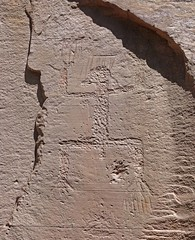 Petroglyph / Sand Island Site (Ron Wolf) Tags: anthropology archaeology bearsearsnationalmonument nationalpark nativeamerican puebloan sandisland anthromorph anthropomorph digitated petroglyph rockart utah