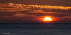 Windpark - 13051707 (Klaus Kehrls) Tags: sonnenuntergang nordsee windpark meer abendstimmung idylle sonne