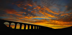 Blazing arches (images@twiston) Tags: blazingarches ribblehead viaduct ribbleheadviaduct blazing ablaze fire sky settle carlisle settlecarlisle yorkshire northyorkshire midland railway main line 1875 battymoss battywifehole sebastopol belgravia jericho scheduledancientmonument 24 arch arches ribblesdale dales 3peaks yorkshire3peaks penyghent parkfell golden morning national park yorkshiredalesnationalpark moorland moor sunrise dawn clouds yellow orange red burning silhouette silhouettes silhouetted landscape imagestwiston twentyfour fells manmade shadow shadows sweeping curve curved wideangle ultra wide angle ultrawide darkarches godsowncountry