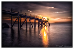 Heavy on the contrast (Deek Wilson) Tags: holywood kinnegar jetty belfastlough northernireland landscape seascape sunset canon7dmkii sigma1020