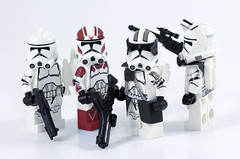 Squad Pack BF2 (CloneArmyCustoms) Tags: lego star wars battle front battlefront ea jet jump trooper heavy arc phase 2 p2 clone army custom customs troopers captain commander 2017 new