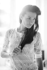 Nostalgic Moment (c-u-b) Tags: blackandwhite schwarzweis portrait porträt girl frau jungefrau frauenporträt gegenlicht intimate verträumt nostalgic nostalgisch nostalgie traum dream dreaming dreamy atmospheric melancholy melancholisch