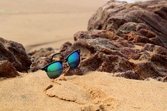 Leisure..... (amitava.das) Tags: beach sunshine india leisure canon 50mm sunglasses sand sea seascape