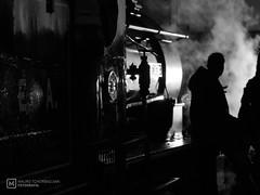 Light (mauro.tch) Tags: industrial transport tramway tram old ancient steam iron nikon coolpix night museum subway metro black white