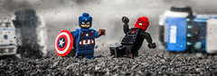 Captain America: Revenge of the Red Skull (Lego_LUTs) Tags: purple green yellow blue storm war lego outdoors blasters afol minifigs minifigures bricks blocks canon toy toys force legos t3i people death one dirt practical effects orange winter soldier marvel heroes comic red skull captain america iron man