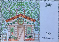 Johanna Basford, 2017 Coloring Calender.  Andrews McMeel Publishing, 2016 (delphinecingal) Tags: pencils crayonsdecouleurs kohinoor coloriagecoloringcouleurscolorsjohannabasford2017coloringcalendarandrewsmcmeelpublishing