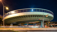 General view of Kurokawa Interchange (黒川インターチェンジ) (christinayan01) Tags: elevated expressways interchange overpass bridge road nagoya night