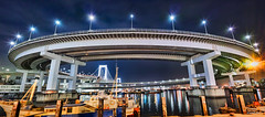 Spiral Road - ぐるぐる道路 (uemii2010) Tags: japan tokyo rainbowbridge elevatedexpressways night lights longexposure panorama sigmadp0quattro