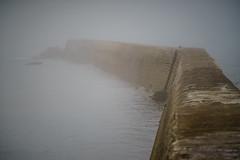 F, Bretagne, Finistère, Nebel im Hafen von Porsmeur (jmsoedher) Tags: atlantik bretagne damm finistère frankreich herbst insel küste mauer meer nebel pfad strand ungewisse wasser weg wege zukunft fragend führt ungewiss wohin