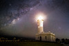 The Wholistic Frame. (pradeep2471989) Tags: canon milkyway longexposure newsouthwales newcastle astrophotography galaxy norahhead lighthouse seaside