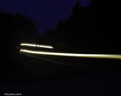 Curvy Light Streak (that_damn_duck) Tags: lightstreaks timelapse nighttime carheadlights curve