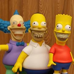 The Simpsons Grin (villainyang) Tags: madebymonsters ronenglish krusty bartsimpson homersimpson homergrin krustygrin bartgrin