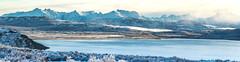 Emerald Lake Winter, snowy mountain (FedericoJensen) Tags: chile patagonia aysen cochrane austral road carretera lake lago invierno winter snow nieve nubes clouds montañas mountain hills cordillera landscape paisaje panoramica panorama frio cold