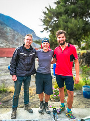 We met some other travellers in Chiquiran.  On the left is Brett form Surrey, Canada and Simon from Austria.