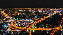 Highway interchange at night (aotaro) Tags: nightview night bangkok highwayinterchange fe1635mmf4zaoss longexposure nightscenery highway ilce7m2 thailand