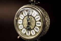 Grandma's Clock (Matt Aresti) Tags: clock reloj antiguo old ancient abuela grandma grandmother hour hora objects objetos sepia lightbox herencia heritage