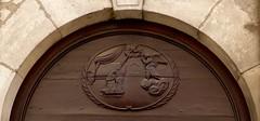 annonciation (2) (canecrabe) Tags: ange colombe vierge annonciation porte portail clarisse couvent sainteclaire polignac lepuyenvelay hauteloire