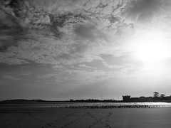 Essaouira in Black and White (Francesco Pesciarelli) Tags: flickr pesha bnw blackandwhite essaouira beach sand sun fortifiedtown mogador morocco maroc marocco clouds silhouette sky panoramic ocean walking trails prints feet seagulls africa colors life big downloadable mentionmyname varied collection thoughtful colours