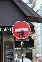 Clet Abraham (emilyD98) Tags: clet abraham panneau insolite paris street art sens interdit sticker urban exploration city ville rue fake roadsign road sign silhouette