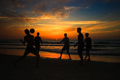 Playing on the beach at sunset - Tel-Aviv (Lior. L) Tags: playingonthebeachatsunsettelaviv playing beach sunset telaviv silhouettes sea seascapes play people nature travel travelinisrael telavivbeach israel clouds cloudysunset