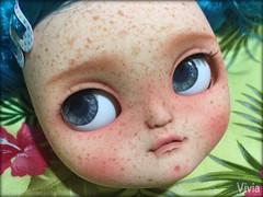 Icy doll custom #133 (♥ vivia custom dolls and accessories ♥) Tags: icy icydoll custom doll plasticdoll sweet freckles lips teeth chips eye eyechips