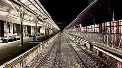 About to disappear Taichung Station old platform (葉 正道 Ben(busy)) Tags: platform taichungˍstation taichung station taiwan perspective 透視 台灣 台中車站 月台 台中 鐵路 railway