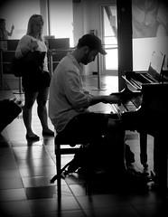 Pianista.....per diletto (dona(bluesea)) Tags: pianista pianst pianoforte piano aeroporto airport aereoportofalconeborsellino palermo sicilia sicily