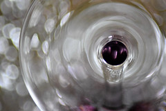 ...champange glass...bottoms upMacroMondays (carbumba) Tags: glass crystal closeup macro upsidedown bokeh stem rim round nikon